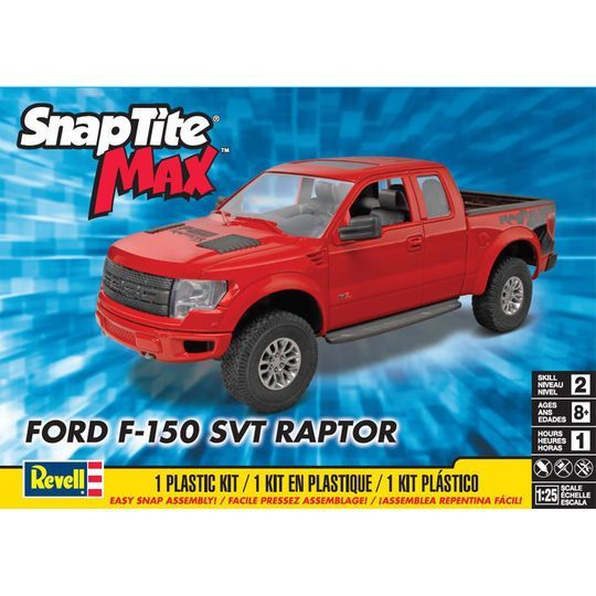 Revell Snaptite Max Ford F  Svt Raptor Plastic Model Kit