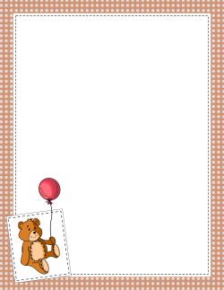 Teddy Bear Border | Clip Art - Boarders & Frames | Page ...