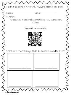 FREE QR code lesson on animal needs from