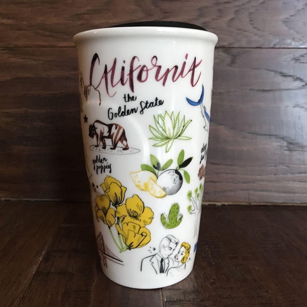 Nwt Starbucks 2016 California Double Wall Ceramic Travel
