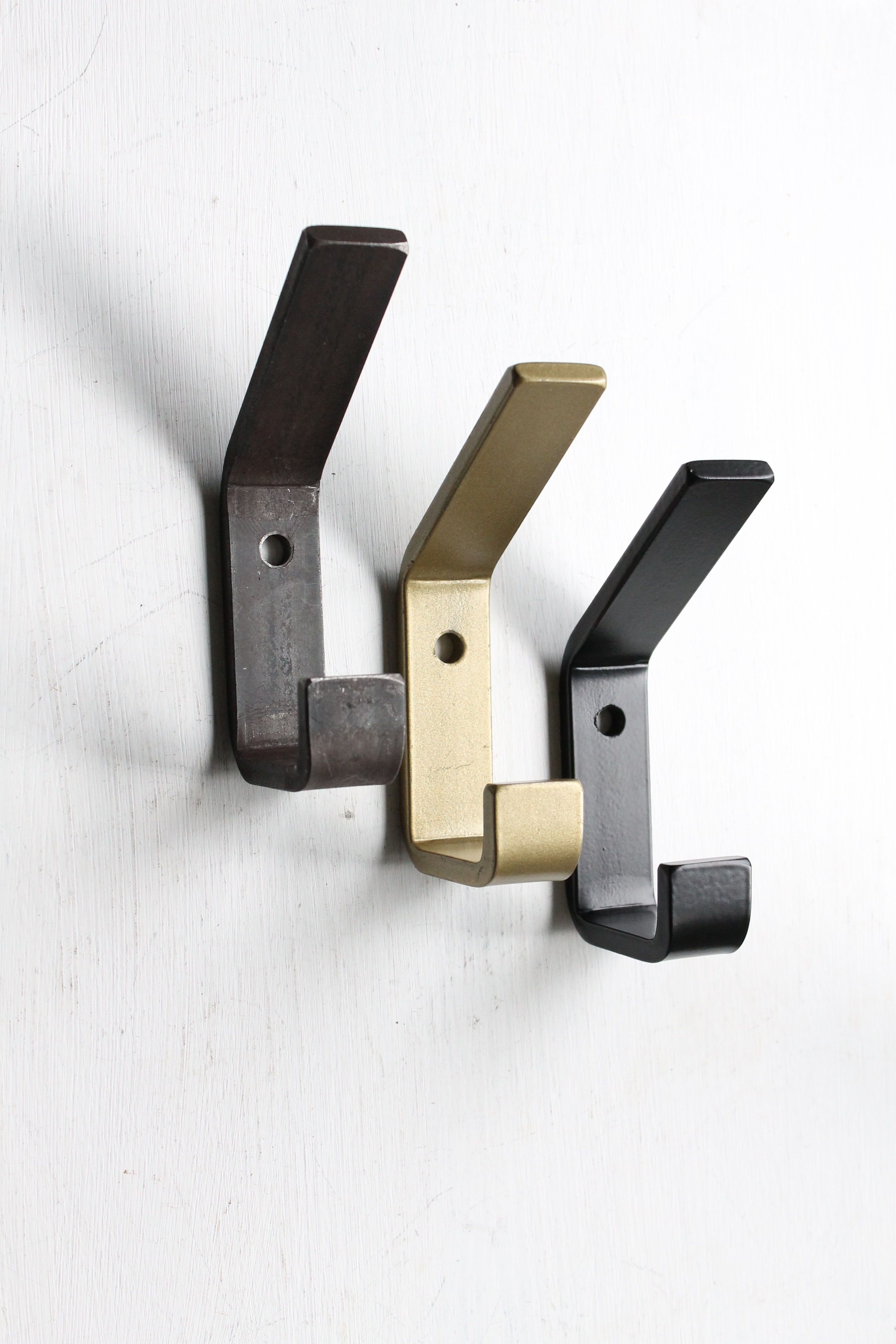 Industrial Wall Mounted Double Coat Hooks by Originals
