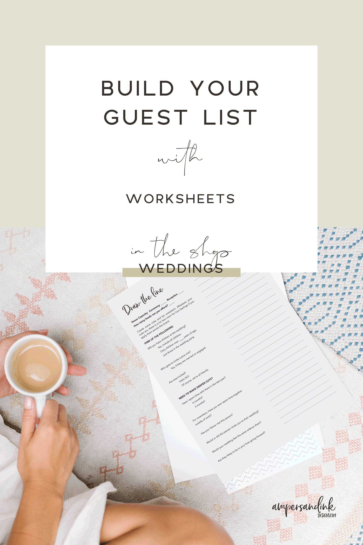 Wedding Planner Guest List Worksheets Download And Print Etsy Love Story Wedding Wedding Planner Wedding Survival Kits