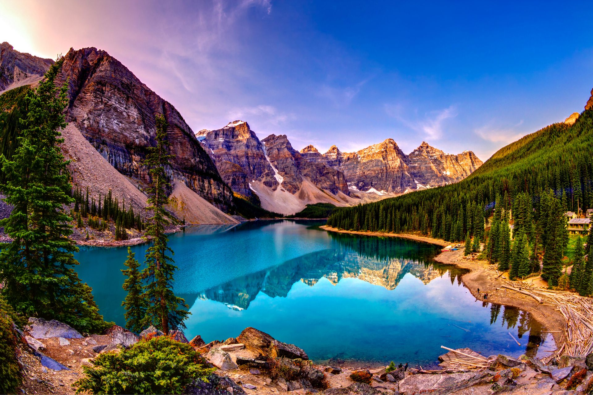 Moraine Lake Wallpaper Photo Galleries And Wallpapers Sunset Wallpaper Lake Sunset Mountain Wallpaper