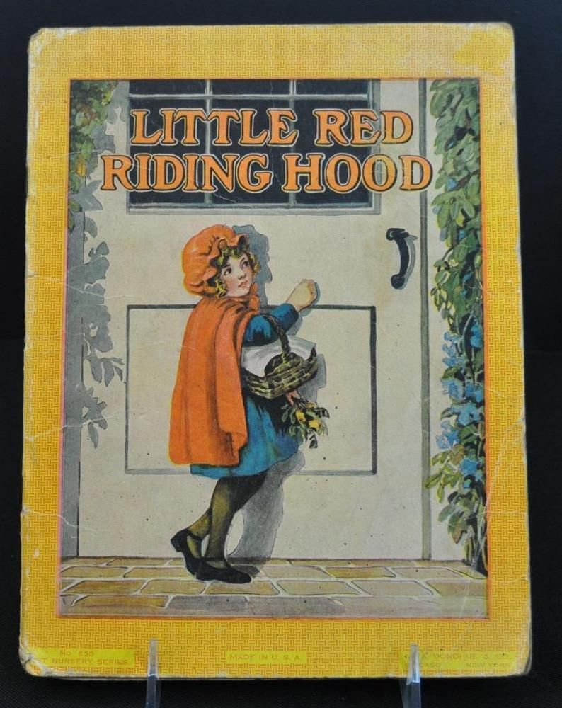 4 little red riding hood early 1900s books book cover