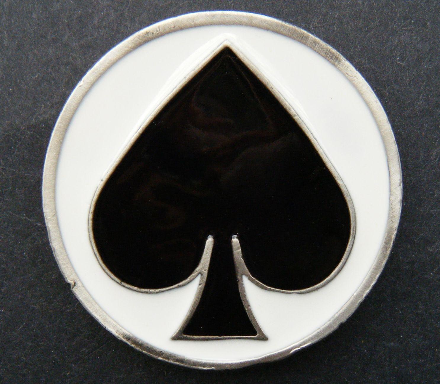 Ace Spades Belt Buckle Gambling Casino Poker Card Game Casual Cool Metal Buckles #spades #blackspades #spadesbeltbuckle #spadesbuckle  Beltbuckle #buckles #cards #deckofcards