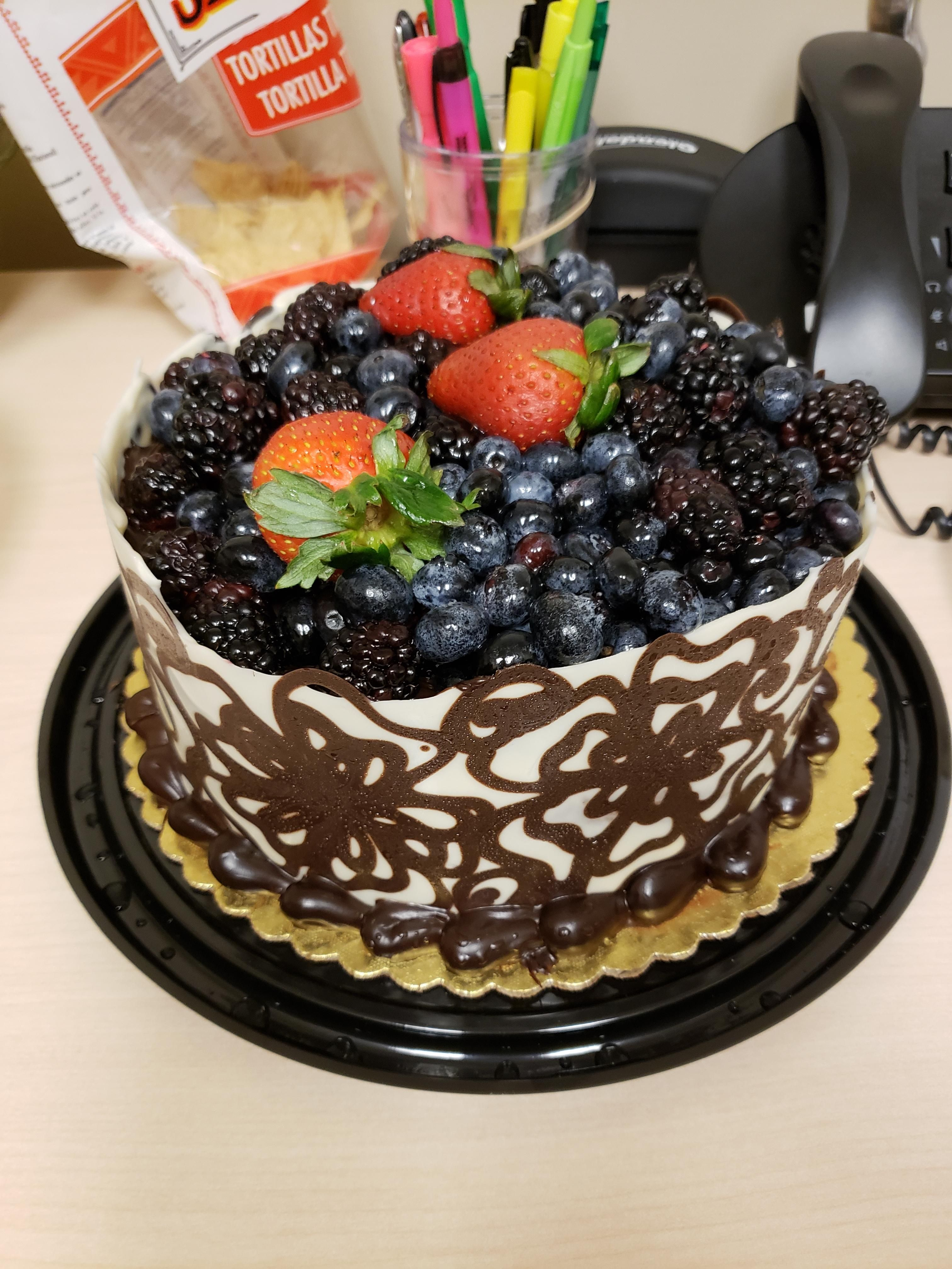 I Ate This Most Beautiful And Delicious Chocolate Cake With Berries