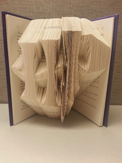 Book Folding PATTERN to create your own folded book art ~Heart thro Sister