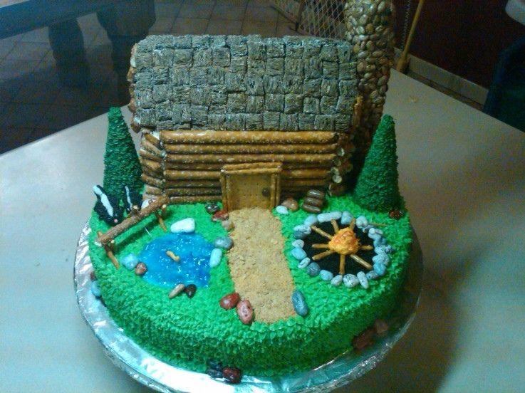 Log Cabin Cake With Images House Cake Cake Eat Cake
