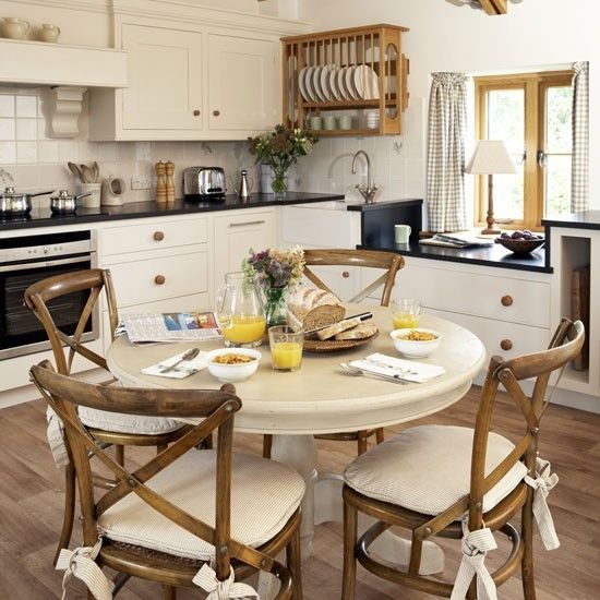 Round table for kitchen loris decoration country style family kitchen with round table watchthetrailerfo