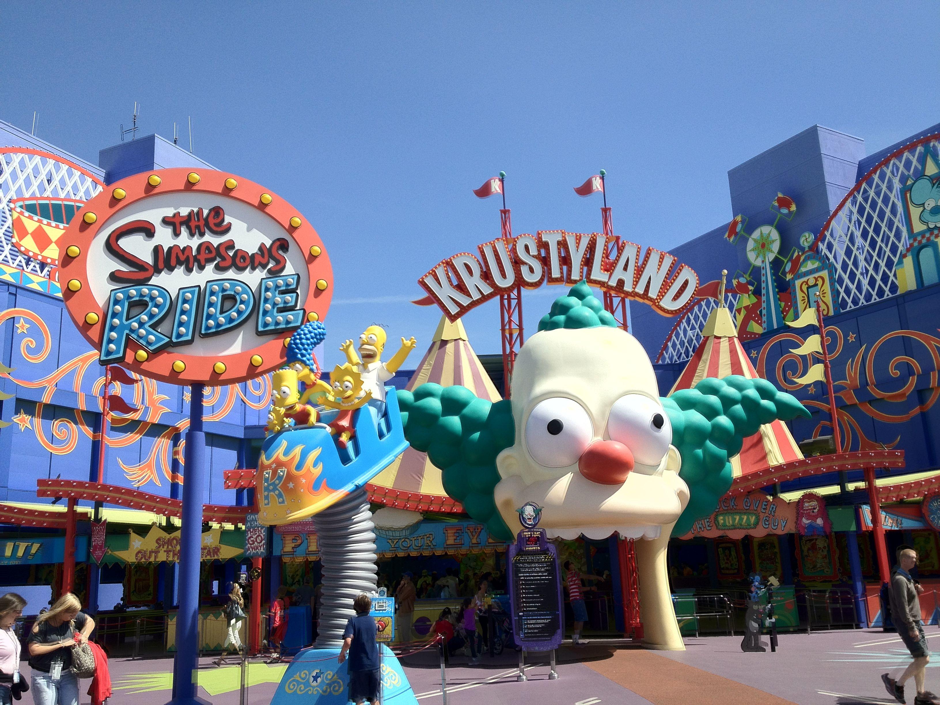 the simpson s ride universal studios universal city universal rh pinterest com
