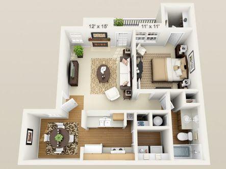 3d floor plan apartment - Google 検索 sims Pinterest Plans