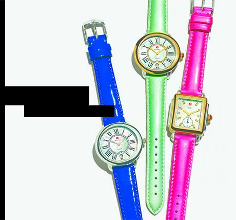 Colorful MICHELE watches for spring.