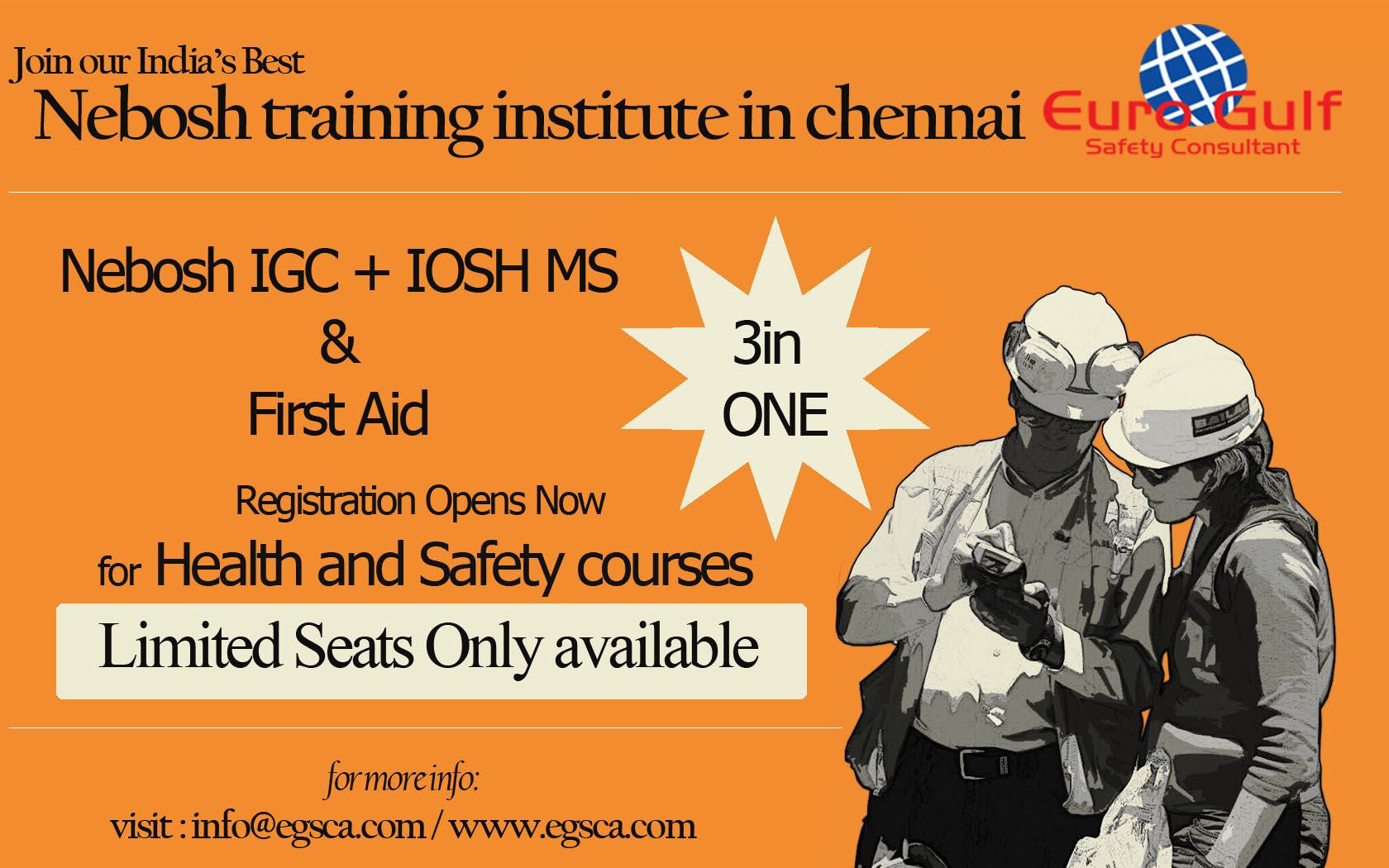 India's Best Nebosh training institute is in chennai