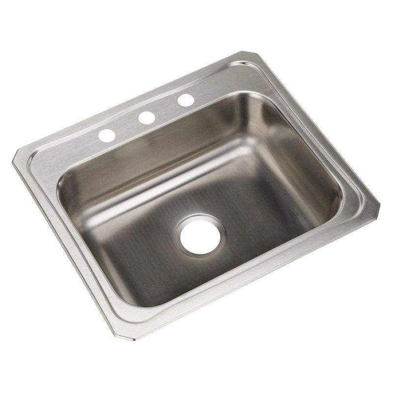 Elkay Celebrity Cr2522 Single Basin Drop In Kitchen Sink 708169