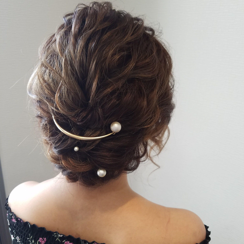 結婚式の髪型 ボブはセルフでハーフアップアレンジに挑戦 Hair ウェディング ヘアスタイル ショートボブ 結婚式 お呼ばれ ヘアアレンジ