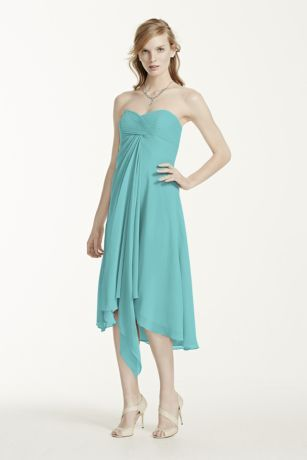 Strapless Chiffon Short Dress Style F12284 | Colors, Short dresses ...