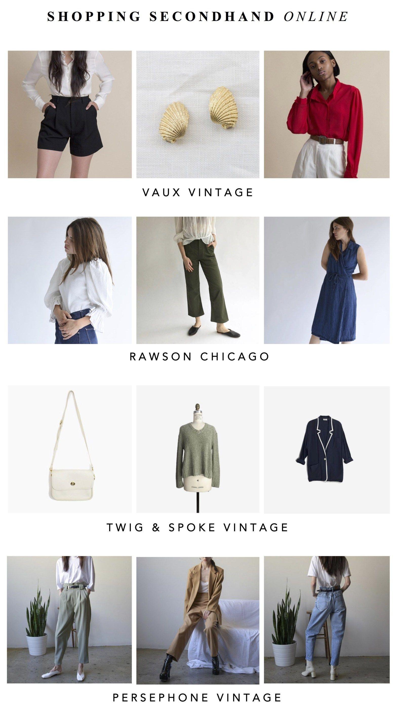 Favorite Vintage Secondhand Shopping Online Vintage Shopping