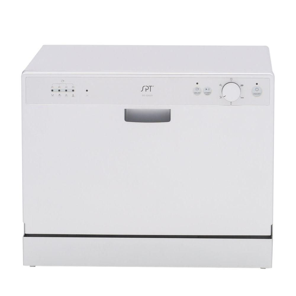 Spt Countertop Dishwasher In Silver With 6 Wash Cycles And Delay Start Countertop Dishwasher Countertops Home Design Decor