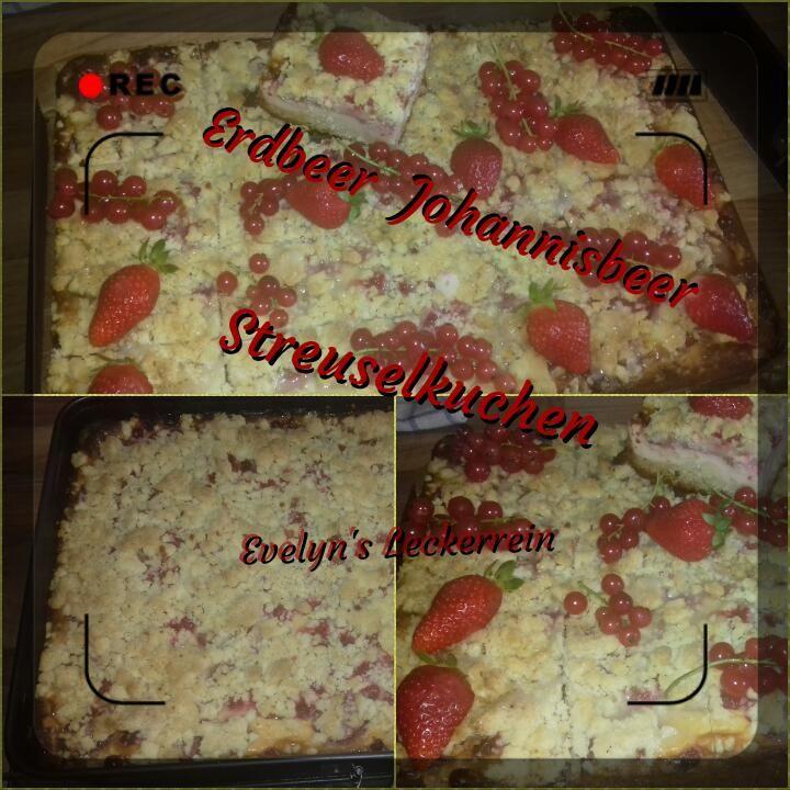 Erdbeer Johannisbeer Streuselkuchen