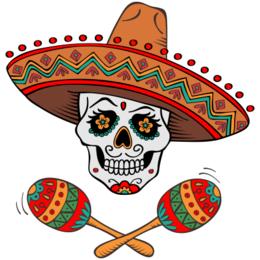 Estampa Para Camiseta Caveira Mexicana 000105 Art Pinterest