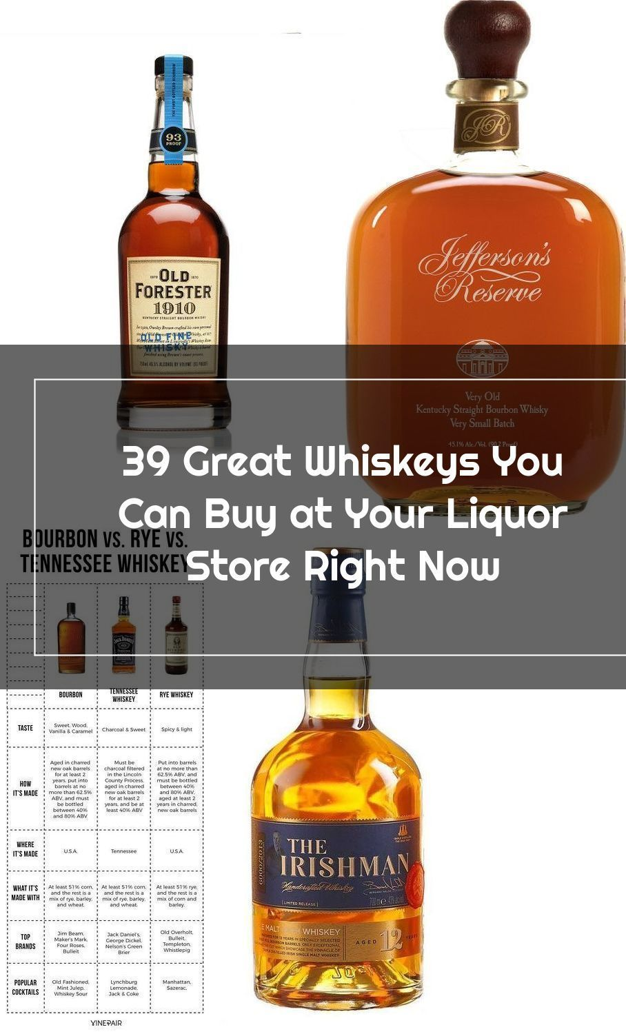 39 Great Whiskeys You Can Buy at Your Liquor Store Right