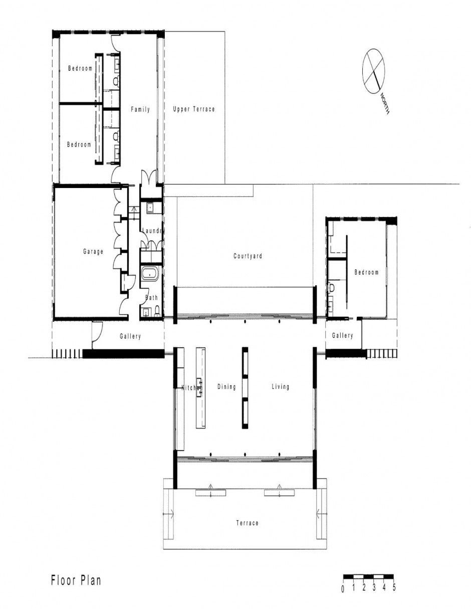 Dixon house; distortion of plan, here. see white on black plan ...