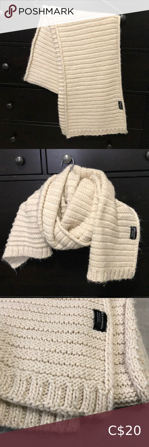 Photo of ZARA Knitted Oversize Scarf