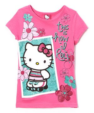 Love This Pink This Is How I Roll Hello Kitty Tee Girls By Hello Kitty On Zulily Zulilyfinds Roupa De Menino Meninas Roupas