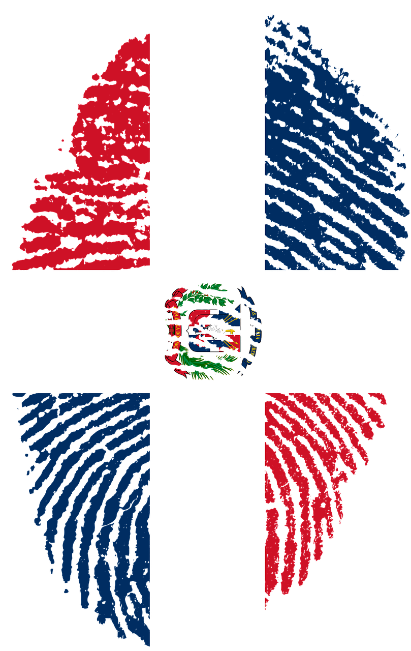 Travel Dominican Republic Flag Fingerprint Countr Travel Dominican Republic Flag Fingerprint Countr Dominican Republic Flag Republic Flag Flag Art