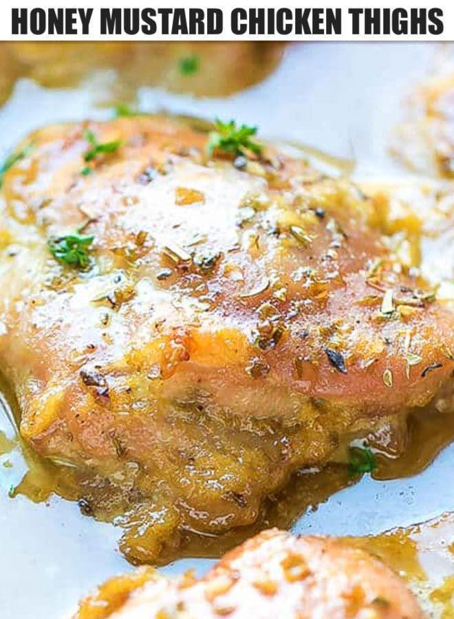 Das perfekte Hühnchen-Abendessen unter der Woche - Easy Juicy Oven Baked Honey Mustard Chic ... -