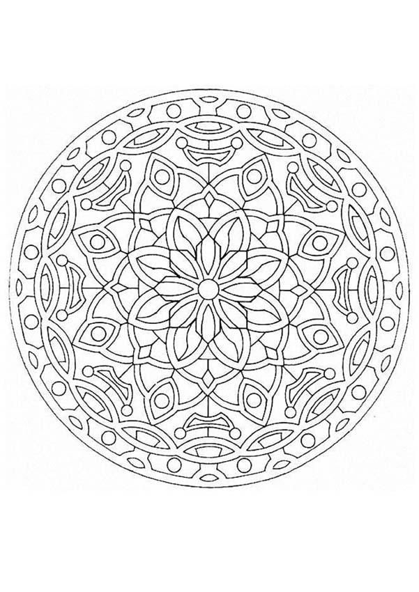 Dibujo para colorear : Mandala Hermosa flor | Patterns for Design ...