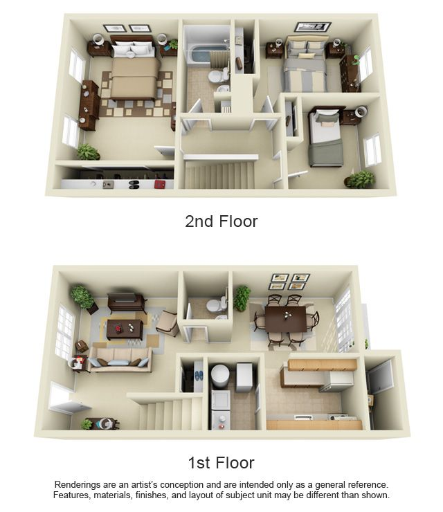 Portwood Townhome 1360 Sq Ft Small House Design Plans House Layout Plans Small House Plans