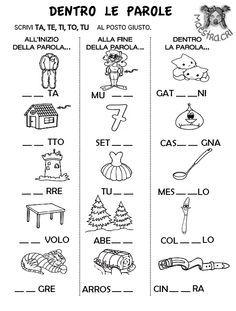 Pin di mirelia bonomi su ita 1 learning italian letter for Parole capricciose esercizi