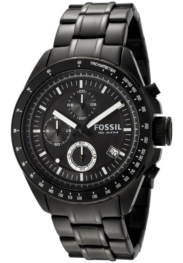 Fossil Men's Decker Chronograph Black Dial Black Ion Plated Stainless Steel - Watch CH2601, #Fossil, #CH2601, #WatchesChronographQuartz