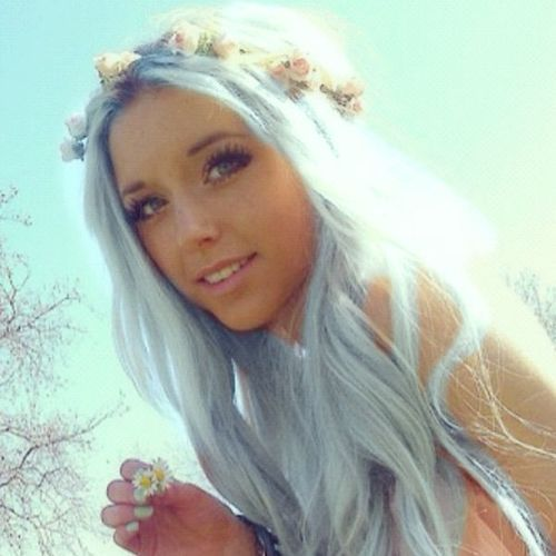 Pastel blue hair ♡