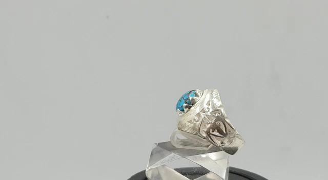الفيروز الايراني نيشابوري صغنا لك خاتم ازرق غامق مميز طبيعي 100 Turquoise Video Sapphire Ring Rings Jewelry