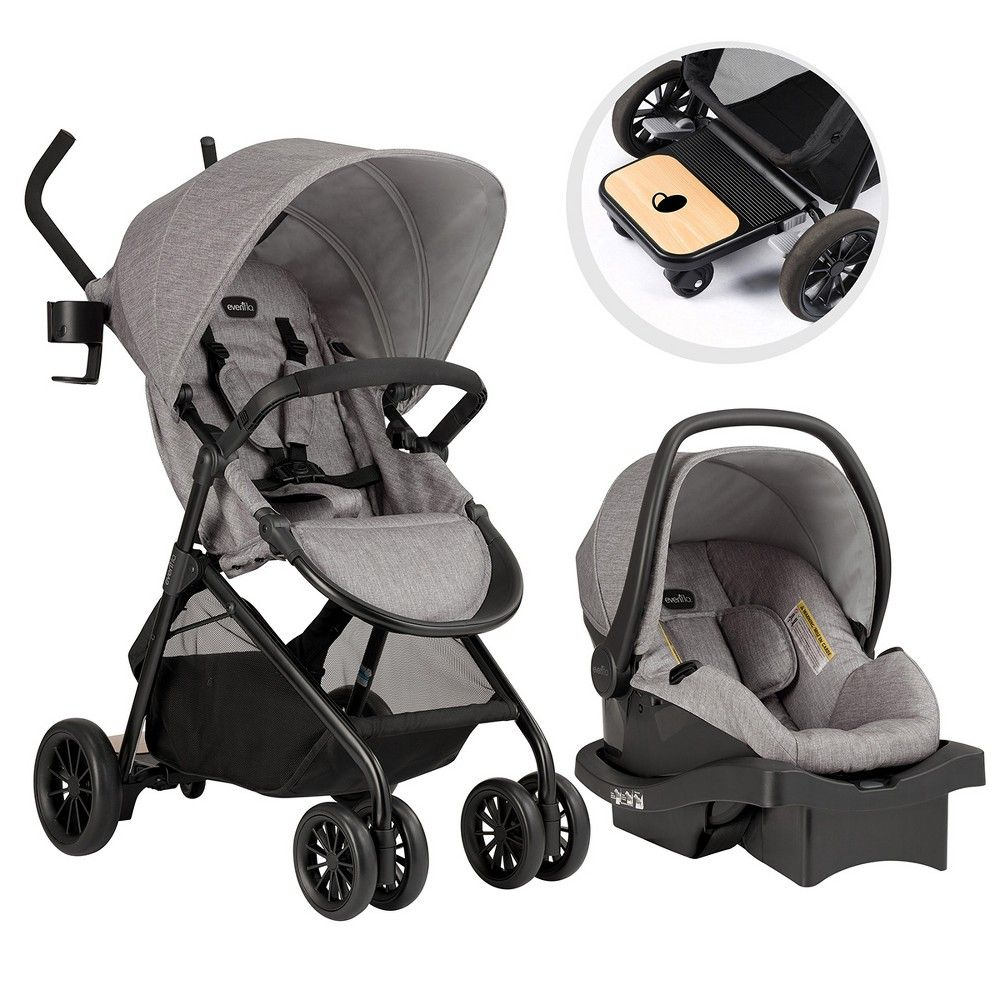 Evenflo Sibby Travel System Mineral Gray (With images