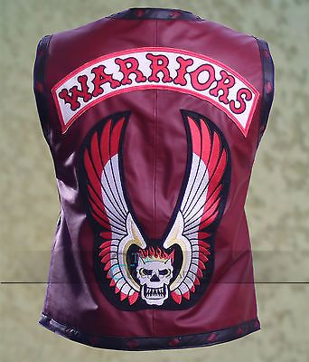 The-Warriors-Movie-Maroon-Leather-Biker-Vest-Halloween-Costume-All-Sizes