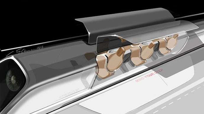 Inventor Elon Musk Reveals New Super Fast Hyperloop Transport The Billionaire Inventor And Entrepren Elon Musk Hyperloop Elon Musk Transportation Technology