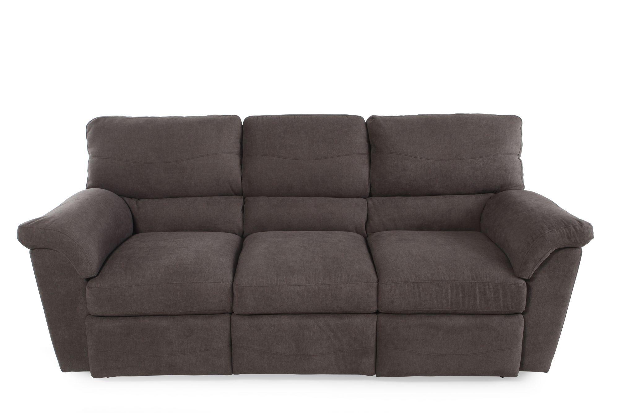 La Z Boy Reese Granite Reclining Sofa Mathis Brothers Furniture