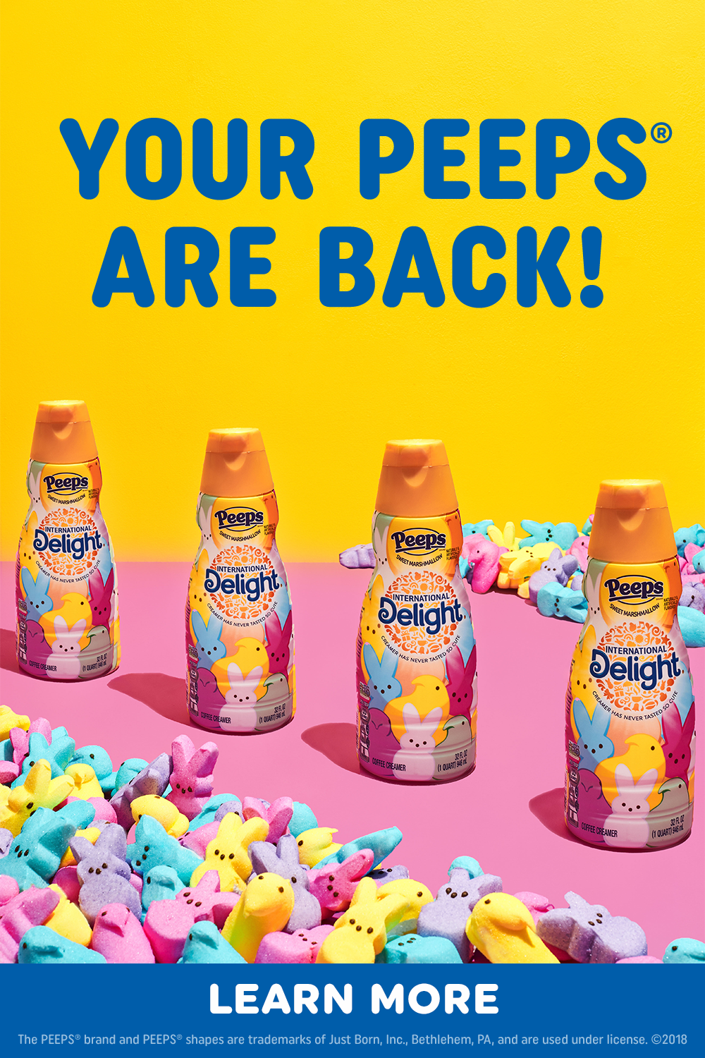 PEEPS® Flavored coffee creamer is back for Spring! in 2020