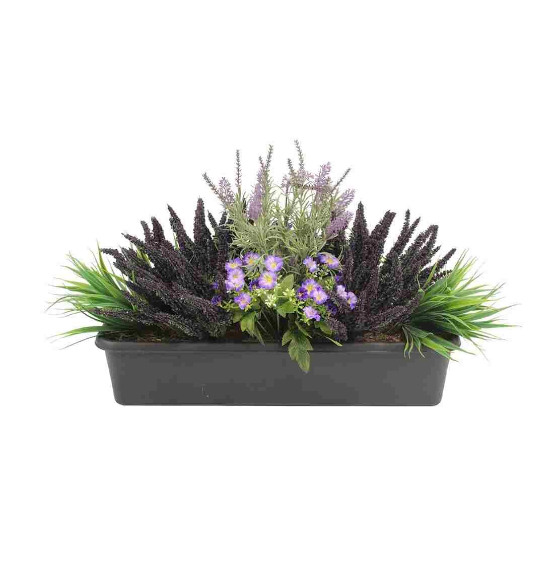 purple rain purple rainnnn artificial window box arrangement