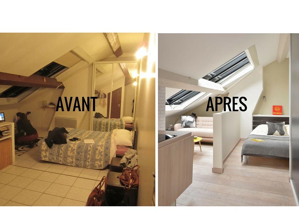 Avant apr s optimiser l espace dans un studio sous les for Optimiser espace petite chambre