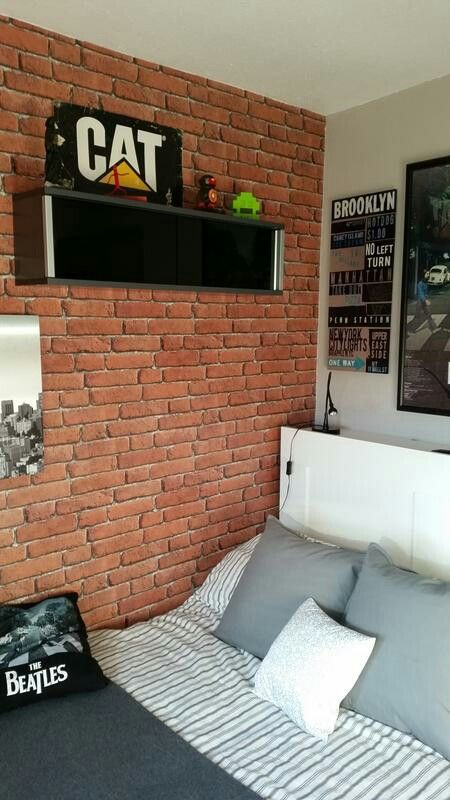 Best Red Brick Wallpaper Gives A Loft Style Theme Red Brick 400 x 300