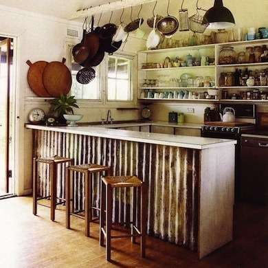 Corrugated Island A Kitchen If You Like The Rustic Chic Look But Are Tired