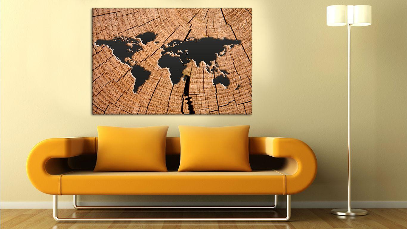 wooden world map wall art prins, framed wall art, wall art canvas ...