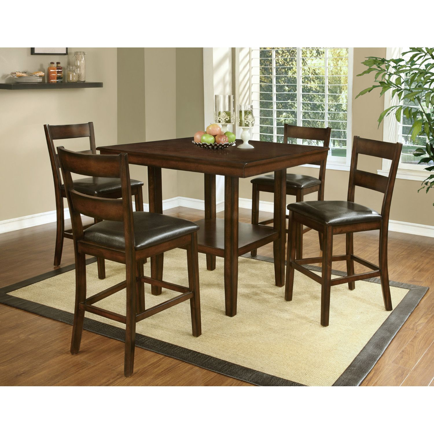 Hazelwood Home 5 Piece Counter Height Dining Set  Marks Condo Prepossessing Height Dining Room Table Design Inspiration