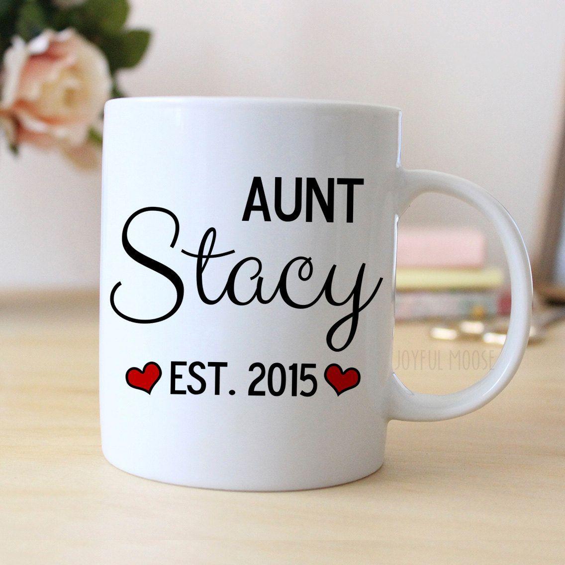 New to JoyfulMoose on Etsy Aunt Personalized Mug