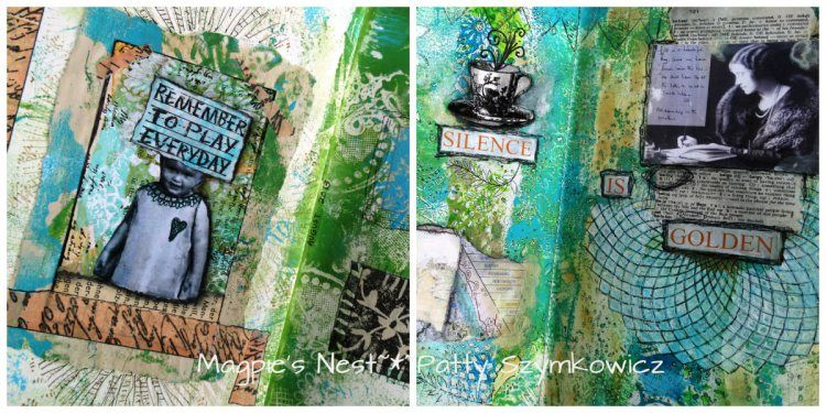 earlier art journal pages
