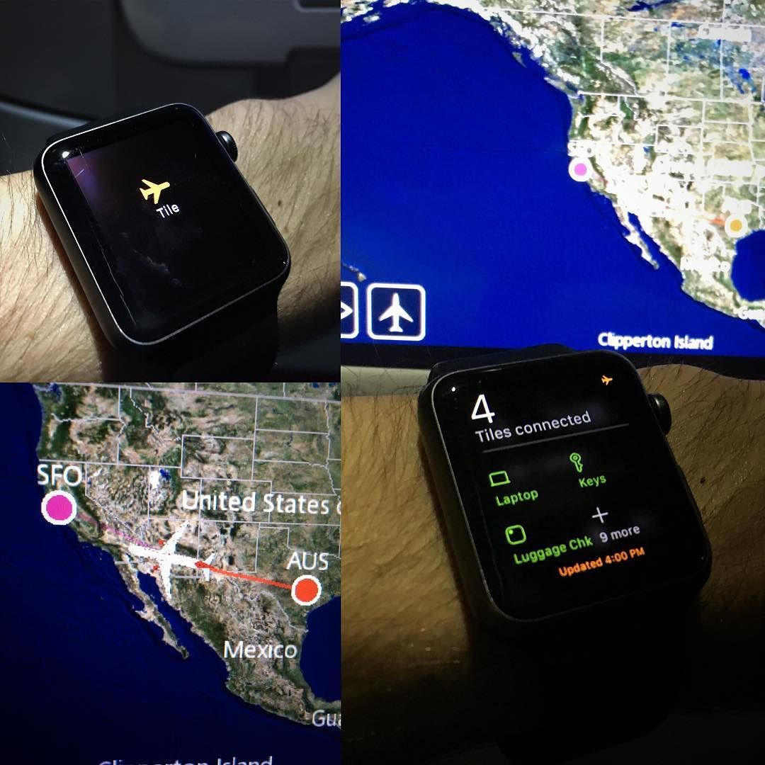 """Even in airplane mode """"glances"""" on the apple watch can"""